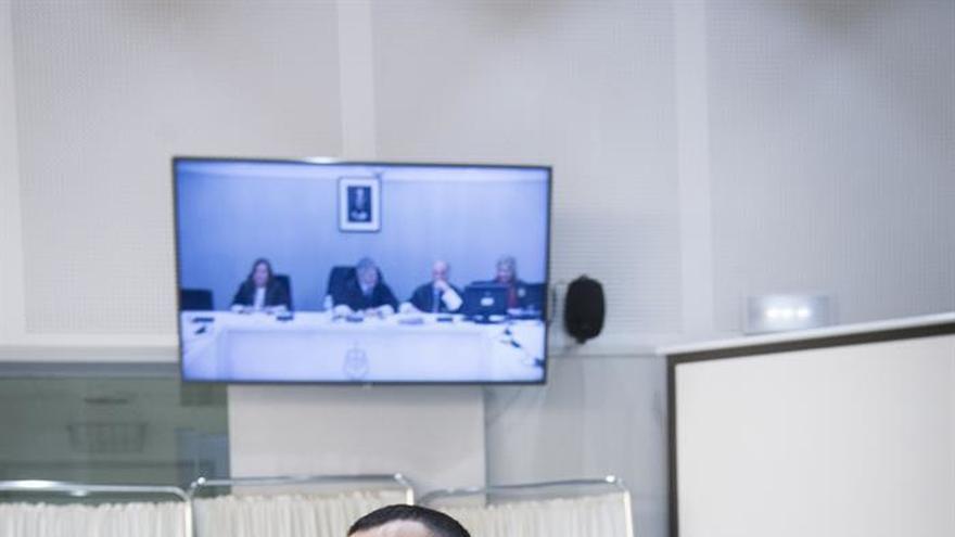 Arkatiz Terrón, durante el juicio en la Audiencia Nacional.