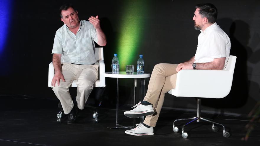 Arsenio Escolar e Ignacio Escolar. (Alejandro Ramos).
