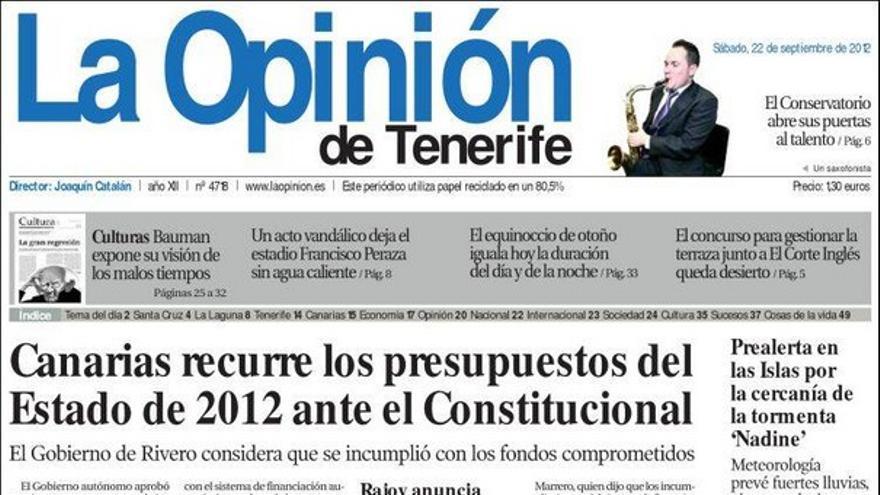 De las portadas del día (22/09/2012) #5