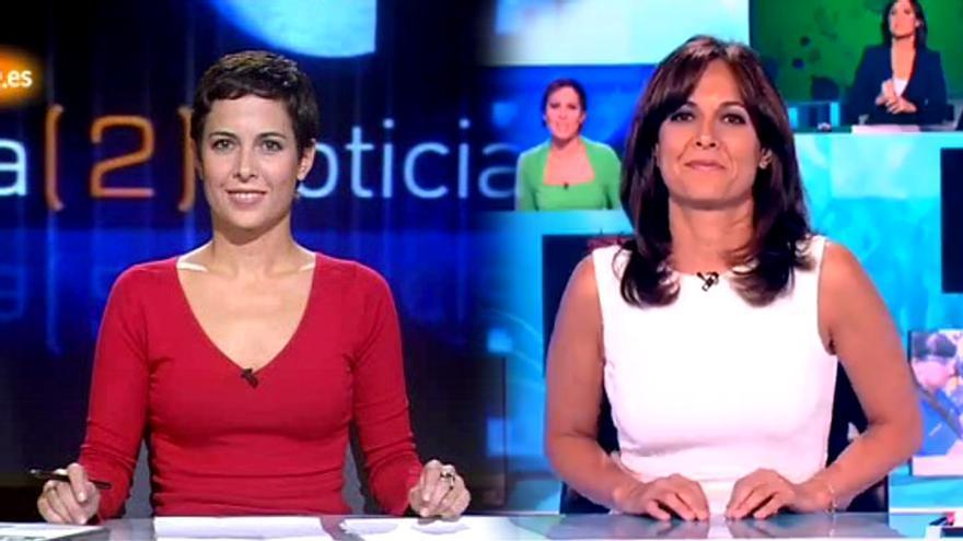 Mara Torres, en sus primeras y últimas Noticias de La 2