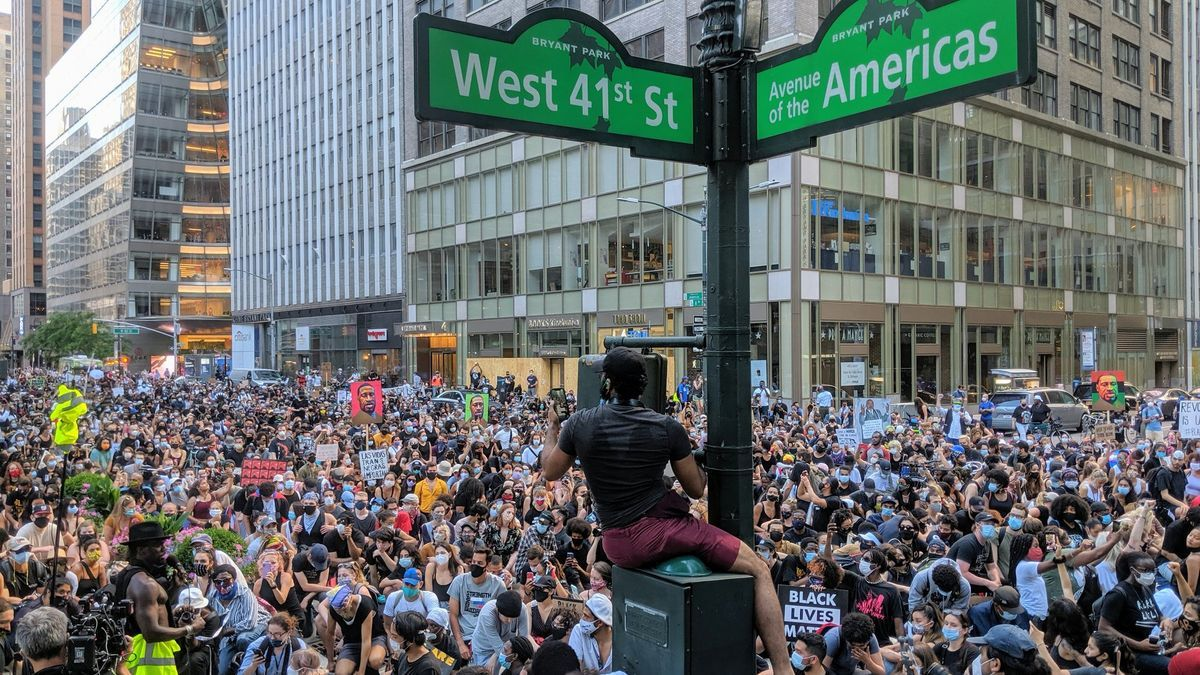 Celebración de Juneteenth en Nueva York el 19 de junio de 2020.