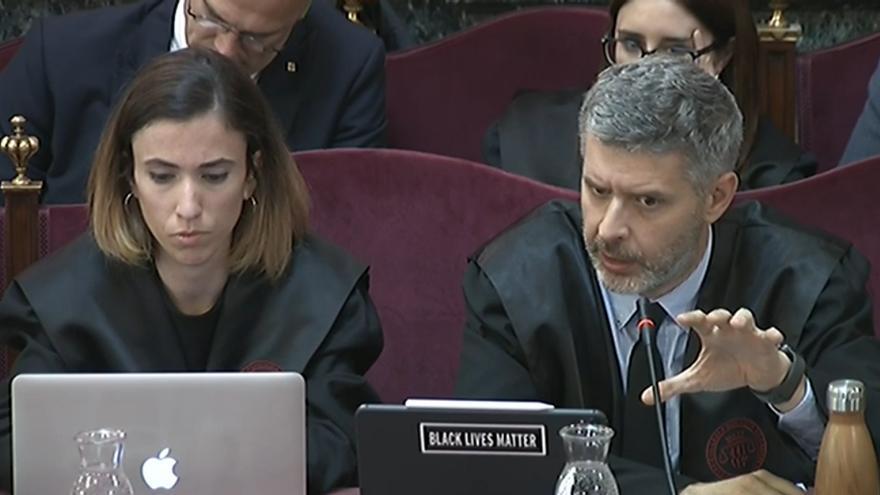 El abogado Andreu Van den Eynde, en la sesión del juicio del martes.