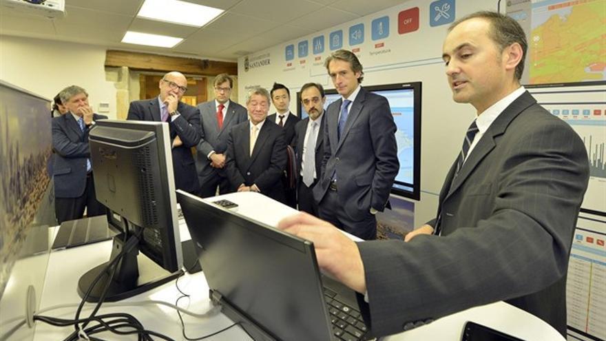 Inauguración del demostrador visual de servicios y sensores para 'SmartSantander'.