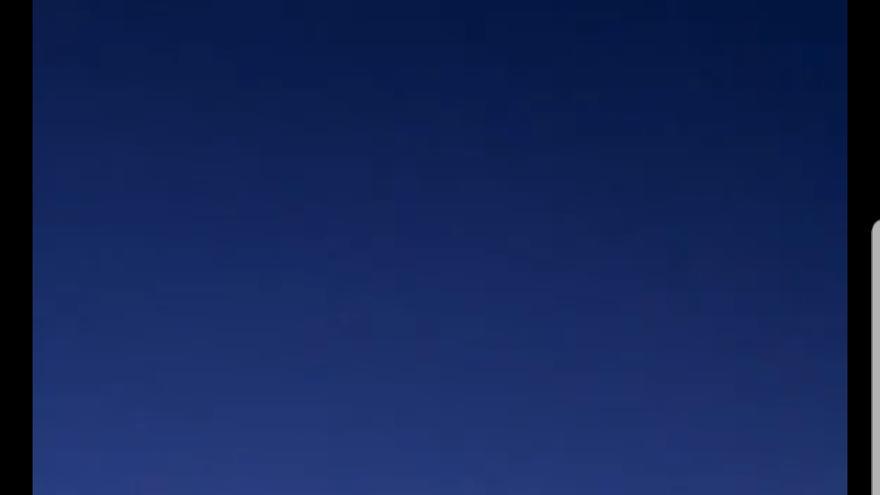 Restos de una nave Soyuz, en su entrada en la atmósfera