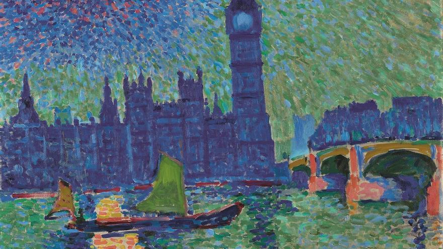 André Derain, Big Ben, Londres, 1906 ©André Derain, VEGAP, Madrid, 2016