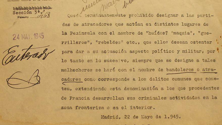 """De guerrilleros a """"bandoleros"""" para el franquismo. / JUAN MIGUEL BAQUERO"""