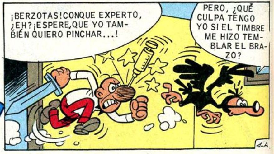 Viñeta de la historieta 'Fluido milagroso' de 'Mortadelo y Filemón'