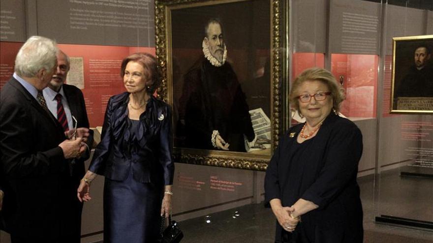 La reina Sofia asiste a la inauguración de la exposición del Greco en Atenas