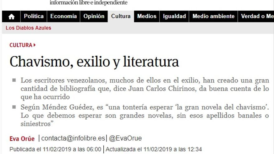 chavismo exilio escritores