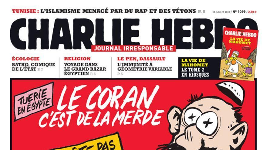 Portada Charlie Hebdo: 'El Corán es la mierda. Esto no para las balas'