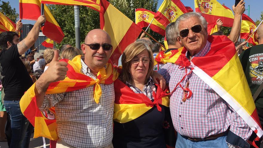 José Luis Benítez Izuel, del PP de Aragón, en la manifestación ultra de Zaragoza