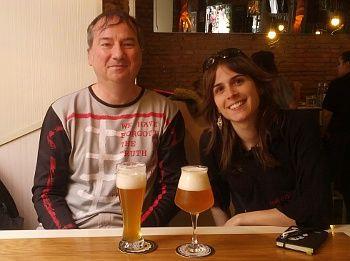 David y Aurora, en La Tape, organizadores del Beerfest | Foto: Somos Malasaña