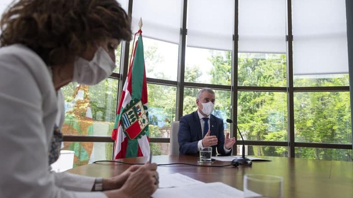 El lehendakari, Iñigo Urkullu, en un acto esta semana en la sede de la Presidencia vasca