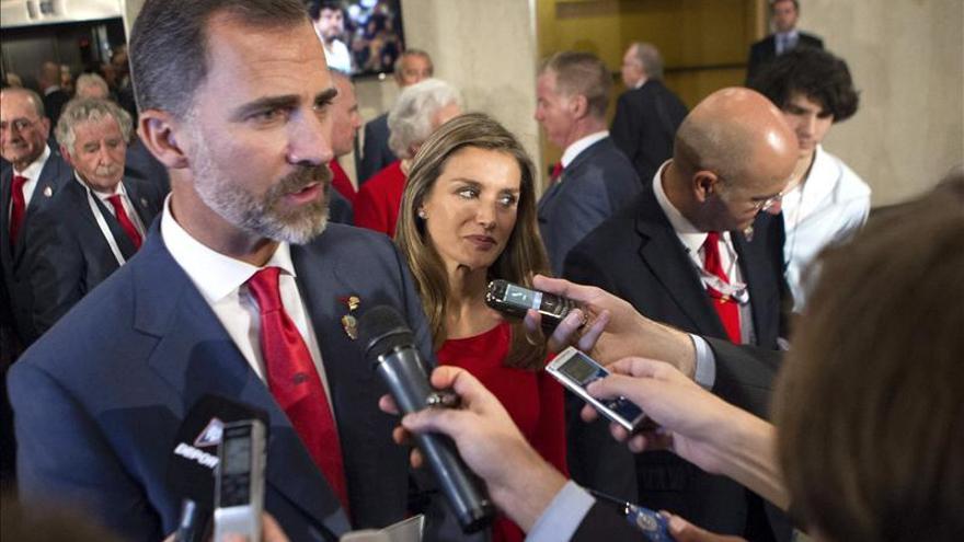 Felipe de Borbón ha sido el encargado de cerrar la presentación de la candidatura española