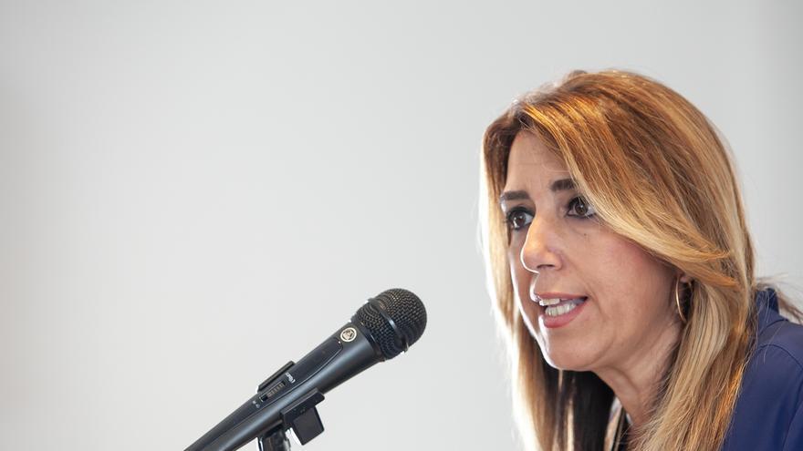 """Susana Díaz rechaza las """"amenazas"""" de Marín (Cs), """"quien cada día dice una cosa diferente"""""""