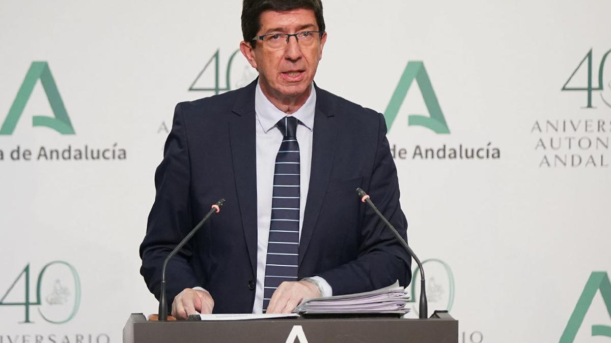 El vicepresidente de la Junta de Andalucía, Juan Marín.