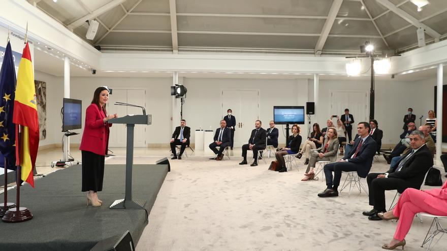 Yaiza Castilla durante su intervención.