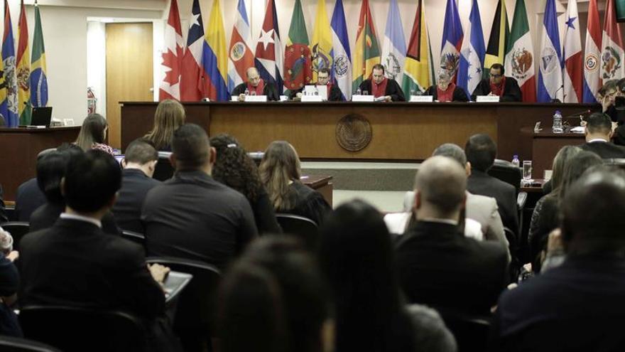 En la imagen el registro de una audiencia de la Corte Interamericana de Derechos Humanos (CorteIDH), en San José (Costa Rica).