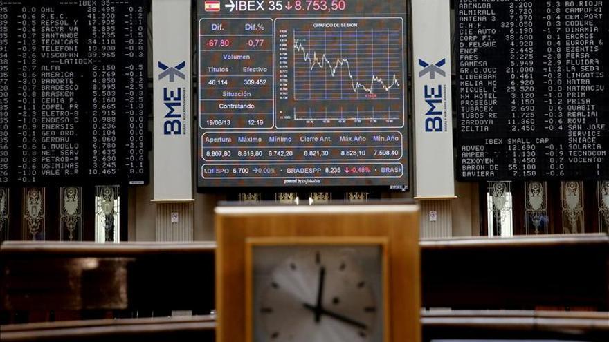 La Bolsa española empieza la sesión al alza y el ÍBEX supera los 9.600 puntos