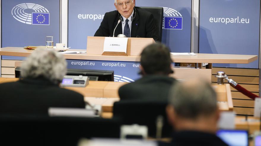 Examen de Josep Borrell ante la Eurocámara, el 7 de octubre de 2019.