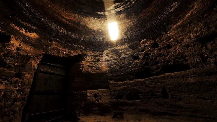 La cueva de Risco Caído, declarada Patrimonio Mundial por la Unesco.