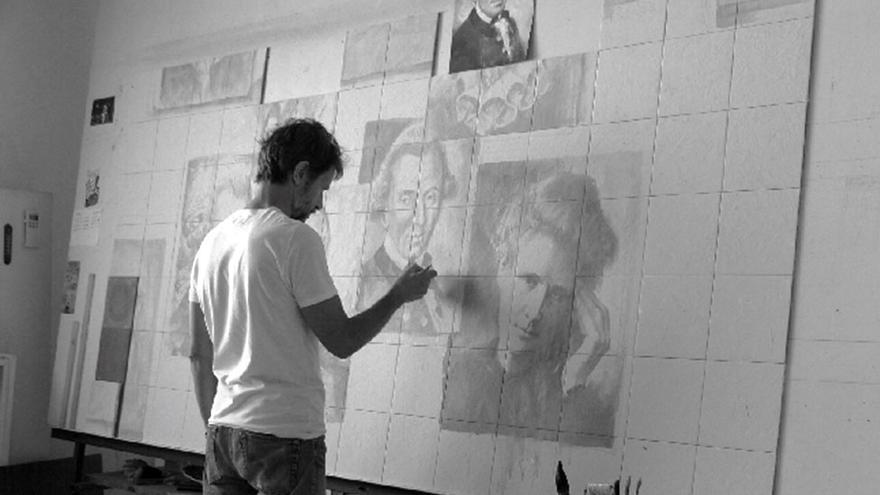 Carlos Garrido, pintura sobre cerámica