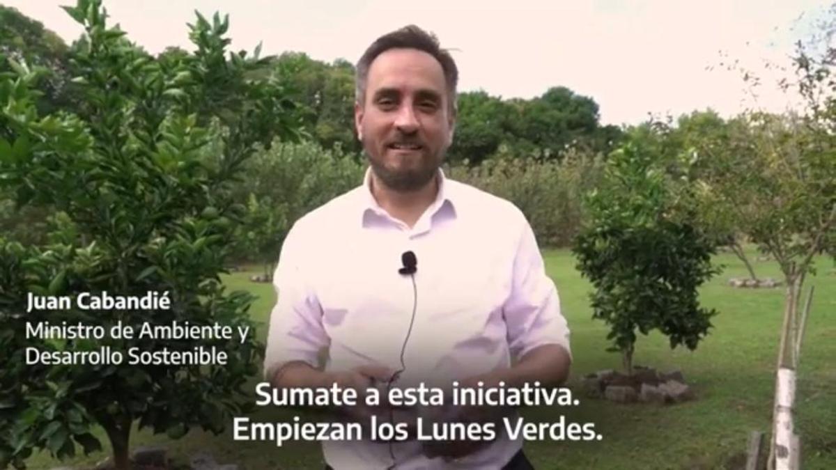 El ministro Juan Cabandié, en una captura del video oficial que luego fue eliminado