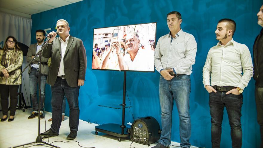 José Alberto Díaz, este lunes en la sede reformada de CC en La Laguna