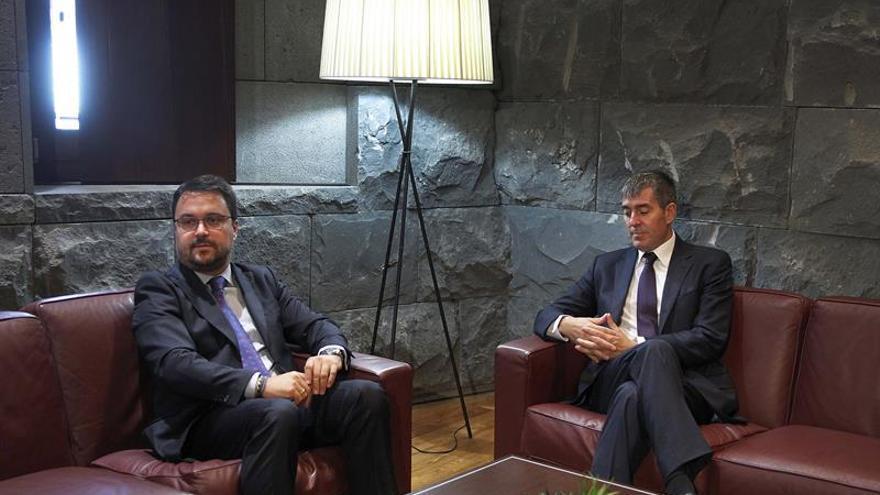 Fernando Clavijo reunido con el presidente del PP de Canarias, Asier Antona, para tratar los presupuestos autonómicos para 2018