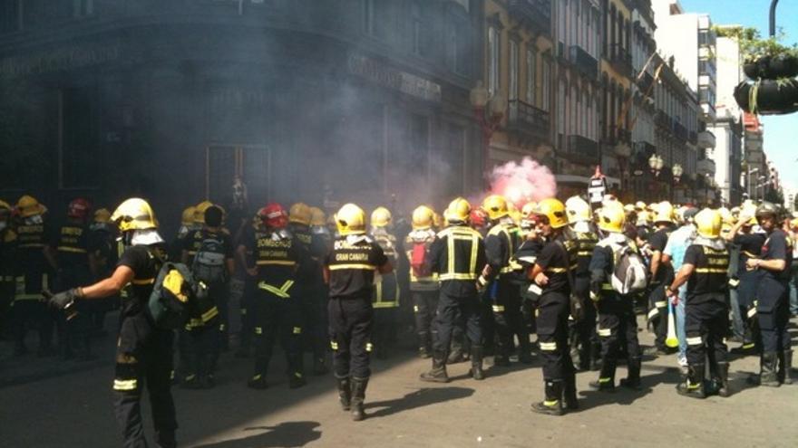De las protesta de los bomberos #15