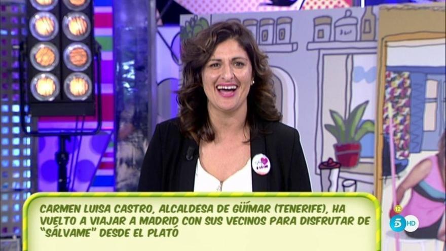 Carmen Luisa Castro, alcaldesa del PP en Güímar, en un programa de 'Sálvame'