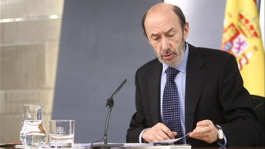 El ministro de Interior y vicepresidente primero del Gobierno, Alfredo Pérez Rub