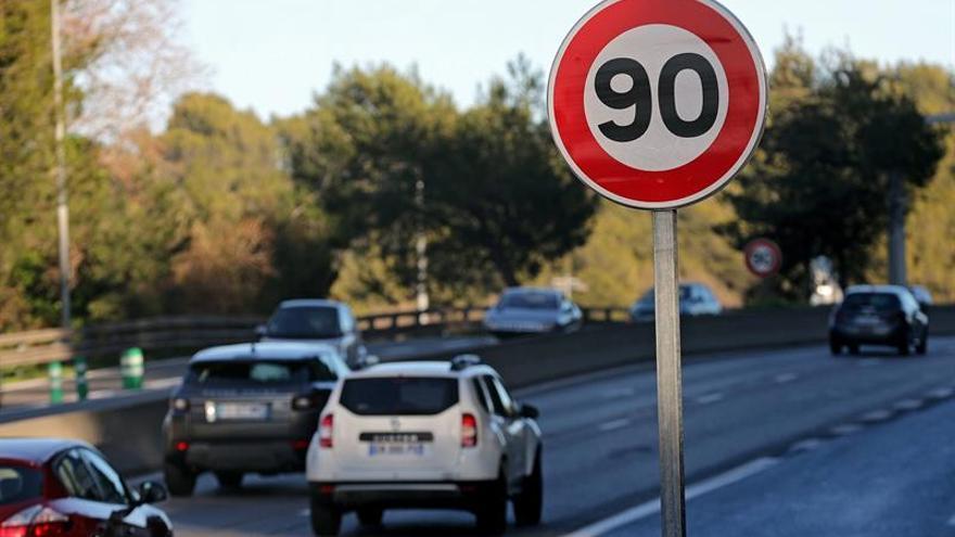 La mortalidad vial bajó en agosto en Francia un 15,5 % tras limitar la velocidad