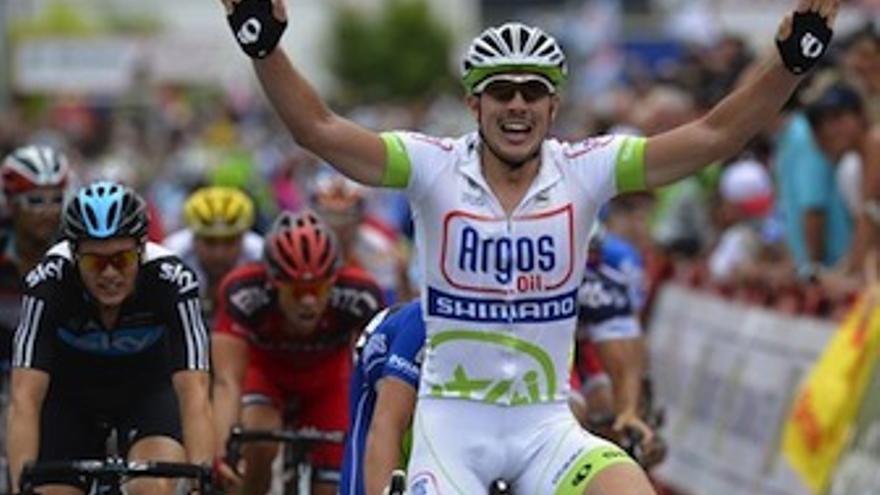 El ciclista alemán celebra su segundo triunfo en la Vuelta a España. (Europa Press)
