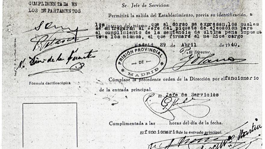 Orden de ejecución de su tío, Tiburcio Galán