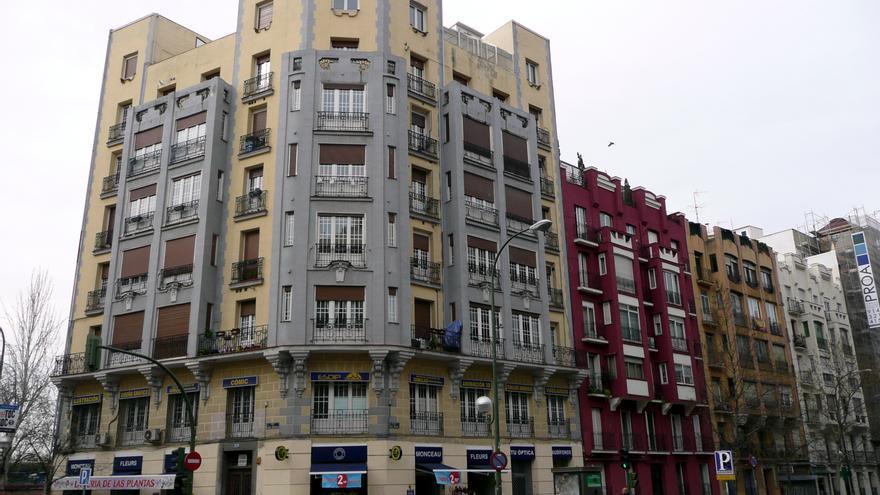 Edificio de viviendas del barrio de Chamberí, en Madrid. FOTO: METRO CENTRIC