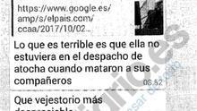 """Insultos y amenazas a Carmena en un chat de policías municipales: """"Ojalá tenga una muerte lenta y agónica"""""""