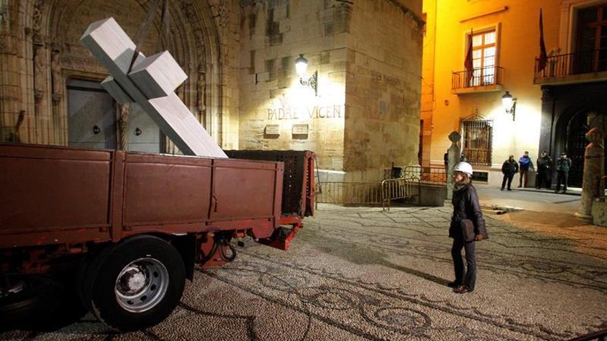 La sala del tribunal que impide quitar la cruz en Callosa lo permitió en 2017