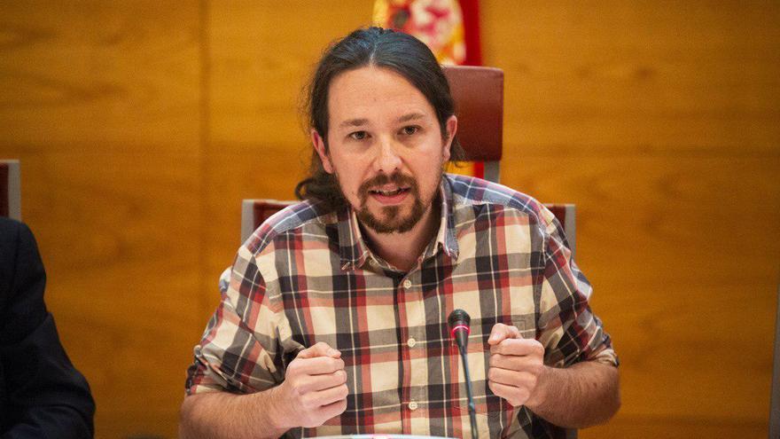 Pablo Iglesias, durante su comparecencia en la comisión de investigación sobre la financiación de los partidos políticos en el Senado.