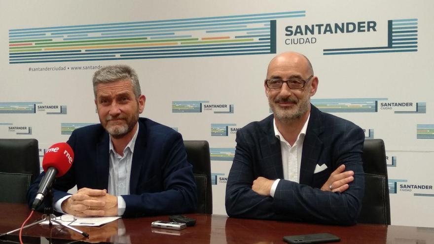 El concejal de Ciudadanos en Santander, Javier Ceruti, y el portavoz autonómico, Félix Álvarez.