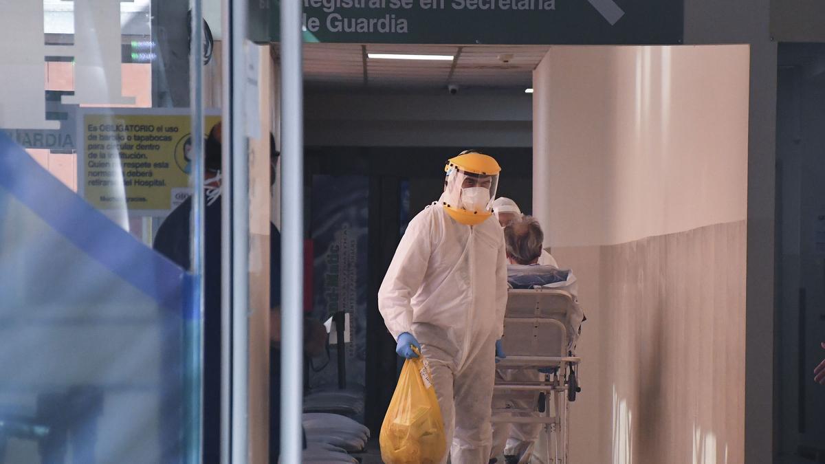 El Hospital Italiano, en el barrio de Almagro.