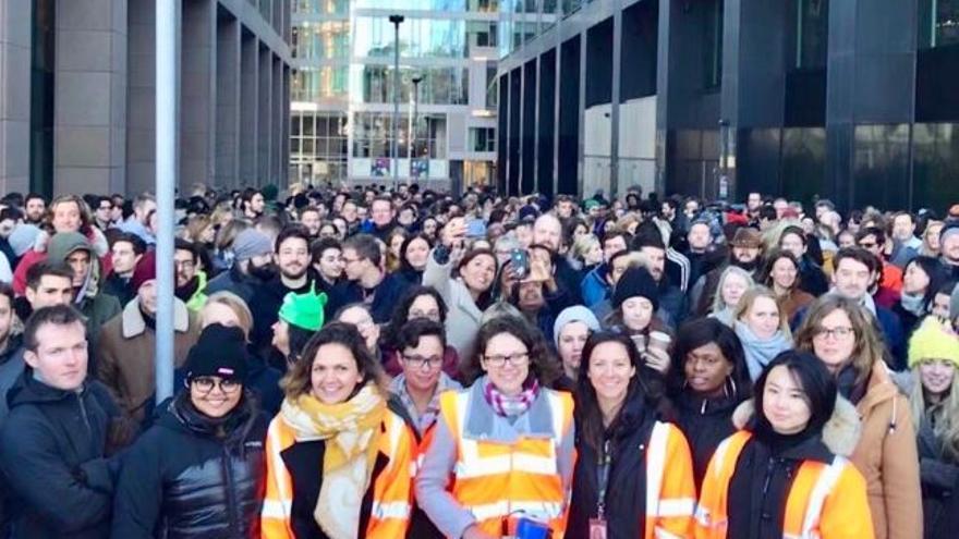 Protesta de trabajadores de Google en Irlanda. (Karen O'Connell - @karenmaryo)