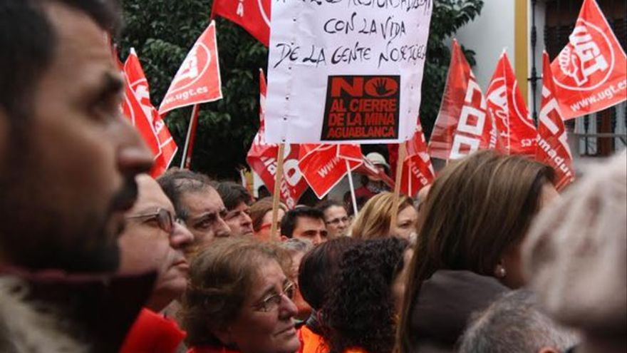 Concentración el pasado sábado en Monesterio contra el cierre de la mina Aguablanca