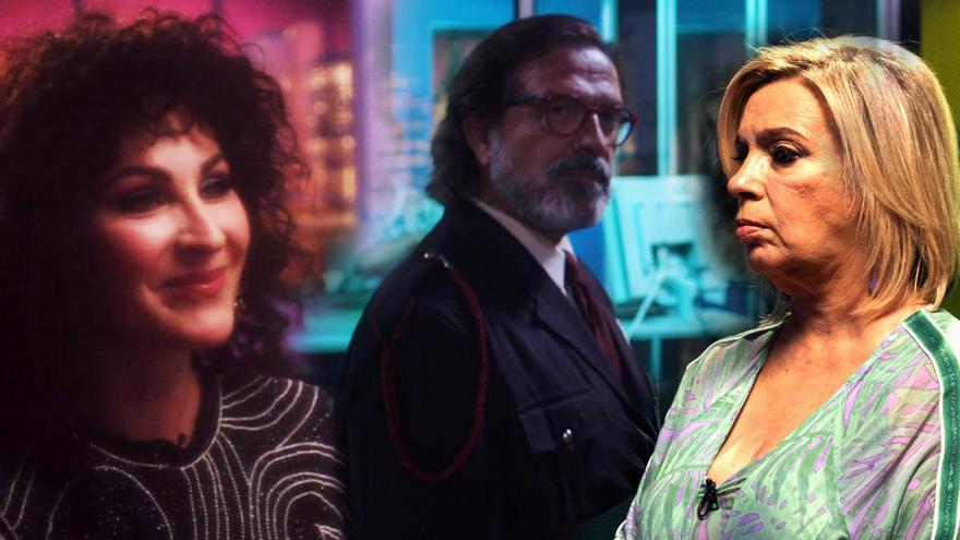 Ana Milán, Pepe Navarro y Carmen Borrego en sus cameos de 'Veneno'