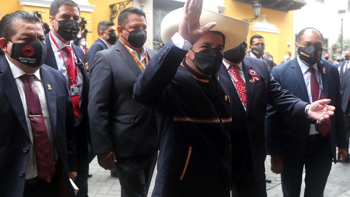 Pedro Castillo asumió este miércoles como presidente del Perú para el período 2021-2026.