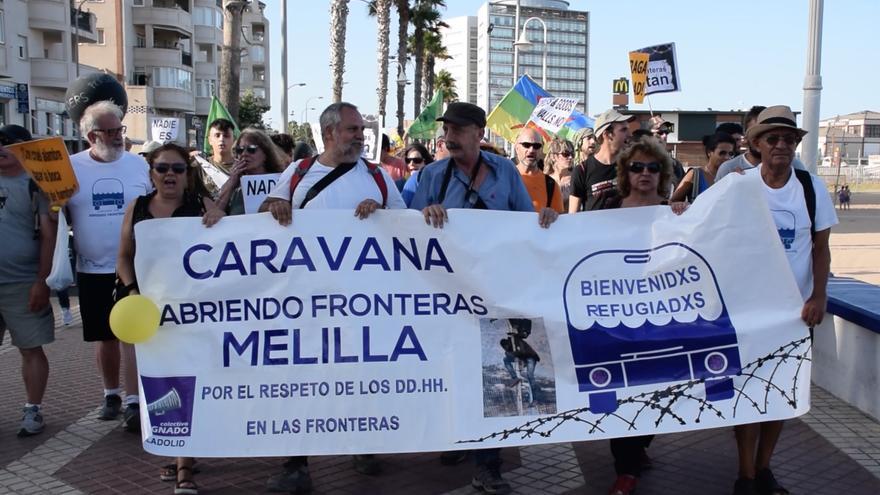 Manifestación de la Caravana Abriendo Fronteras en Melilla