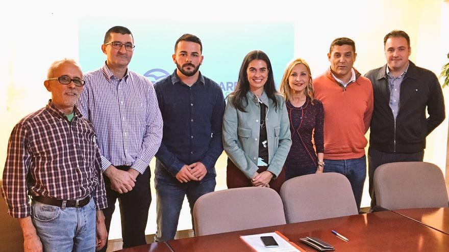 Reunión de representantes del PP con las plataformas de cuerpos de seguridad del Estado en Canarias