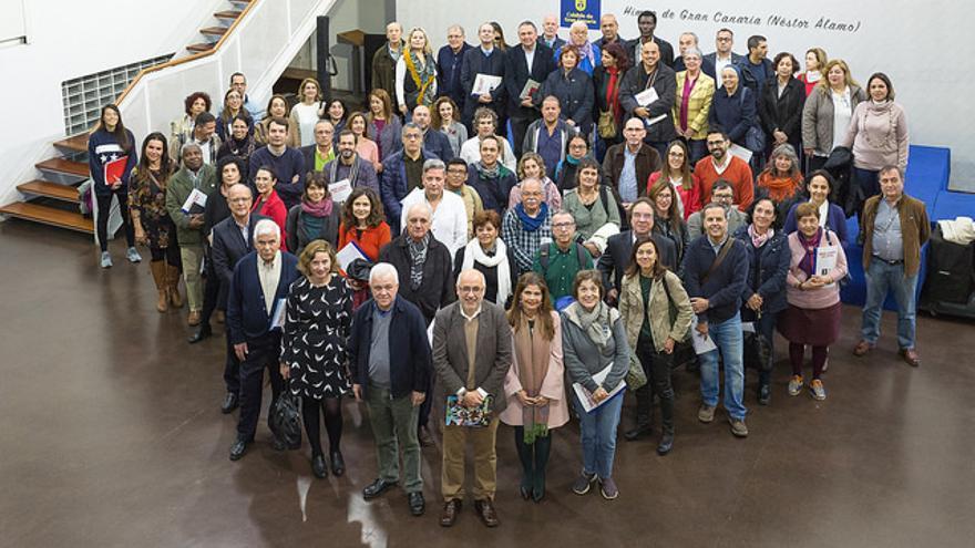 Firma del acuerdo entre el Cabildo de Gran Canaria y 73 organizaciones