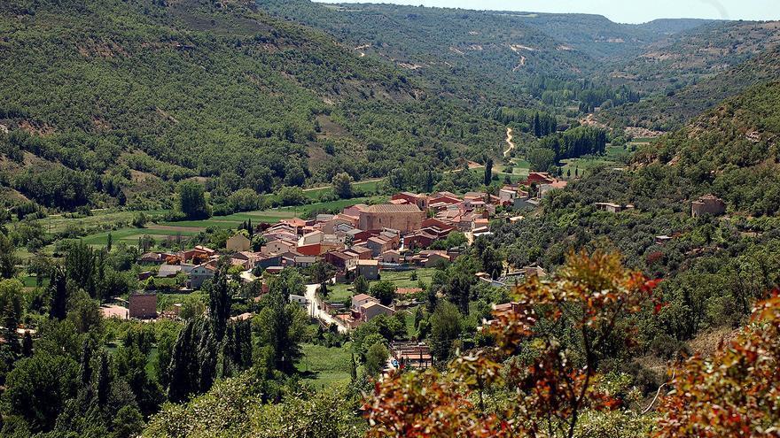 Valle del río Ungría desde el municipio de Caspueñas