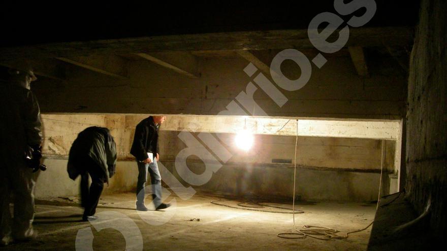 Habitación con humedades pero sin huesos en una capilla del Valle de los Caídos